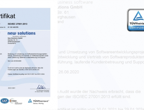 New Solutions successfully completes its first recertification for ISO / IEC 27001