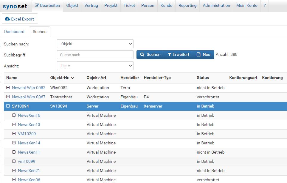 Synoset, die Asset- & Service Management Software